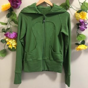 Lululemon Green Scuba Zip Up Hoodie